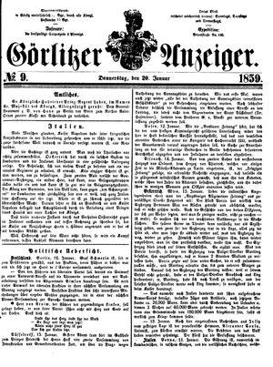 Görlitzer Anzeiger vom 20.01.1859