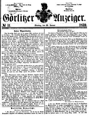 Görlitzer Anzeiger vom 25.01.1859