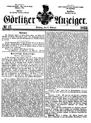 Görlitzer Anzeiger vom 08.02.1859