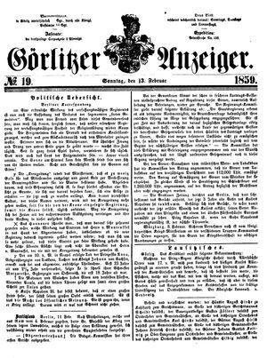 Görlitzer Anzeiger vom 13.02.1859