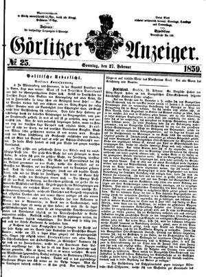 Görlitzer Anzeiger vom 27.02.1859