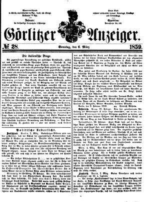 Görlitzer Anzeiger vom 06.03.1859