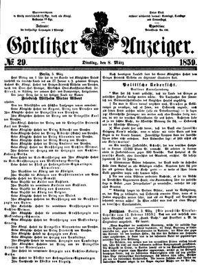 Görlitzer Anzeiger on Mar 8, 1859