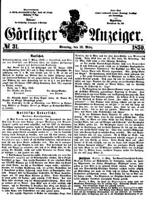 Görlitzer Anzeiger vom 13.03.1859
