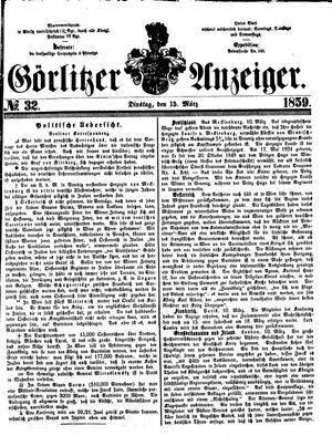Görlitzer Anzeiger on Mar 15, 1859