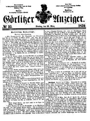 Görlitzer Anzeiger vom 22.03.1859