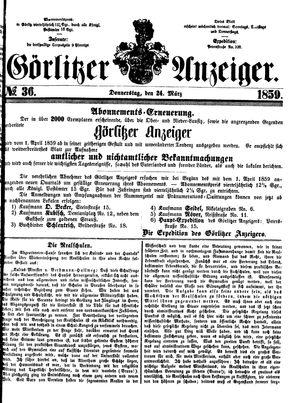 Görlitzer Anzeiger vom 24.03.1859