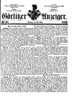 Görlitzer Anzeiger on Mar 29, 1859