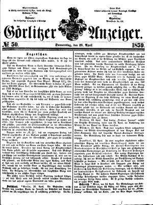 Görlitzer Anzeiger on Apr 28, 1859