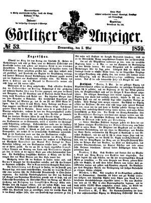 Görlitzer Anzeiger vom 05.05.1859