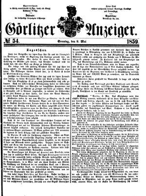Görlitzer Anzeiger vom 08.05.1859