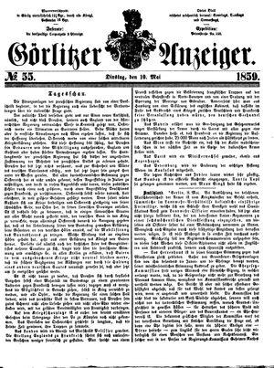 Görlitzer Anzeiger vom 10.05.1859