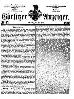 Görlitzer Anzeiger vom 15.05.1859