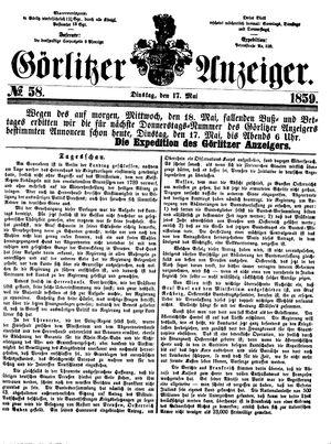 Görlitzer Anzeiger vom 17.05.1859