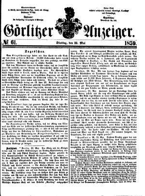 Görlitzer Anzeiger on May 24, 1859