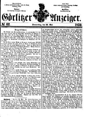 Görlitzer Anzeiger vom 26.05.1859