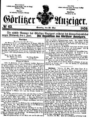 Görlitzer Anzeiger vom 29.05.1859