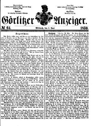 Görlitzer Anzeiger vom 01.06.1859