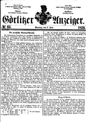 Görlitzer Anzeiger vom 05.06.1859