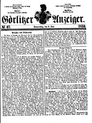 Görlitzer Anzeiger vom 09.06.1859