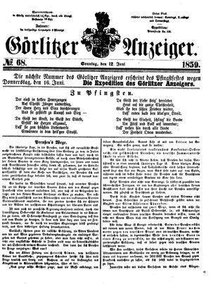 Görlitzer Anzeiger vom 12.06.1859