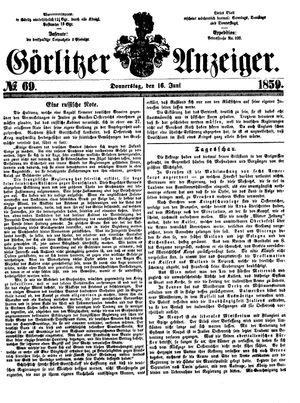 Görlitzer Anzeiger vom 16.06.1859