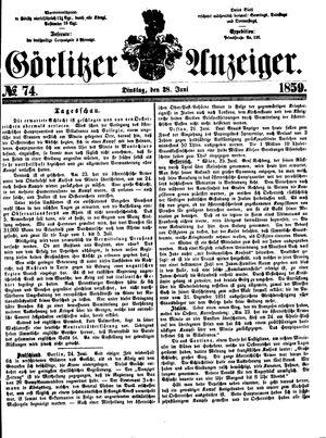 Görlitzer Anzeiger vom 28.06.1859