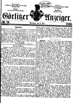 Görlitzer Anzeiger vom 03.07.1859