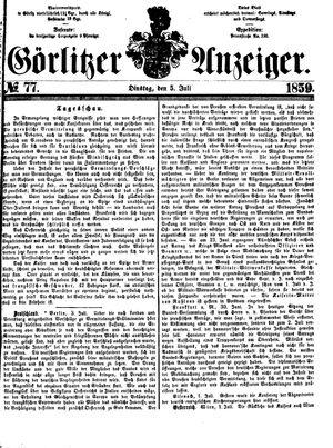 Görlitzer Anzeiger vom 05.07.1859