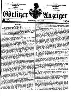 Görlitzer Anzeiger vom 07.07.1859