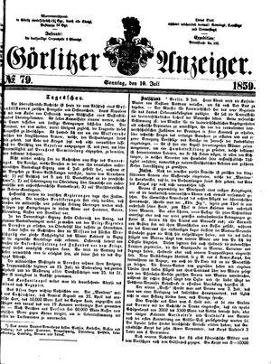 Görlitzer Anzeiger vom 10.07.1859