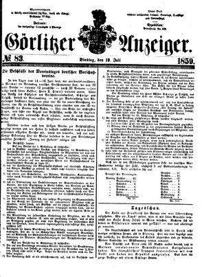 Görlitzer Anzeiger vom 19.07.1859