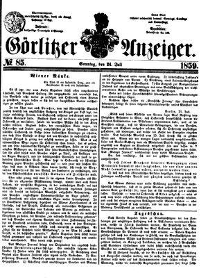 Görlitzer Anzeiger vom 24.07.1859