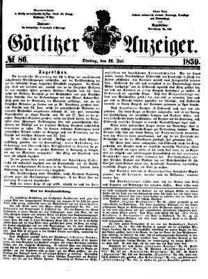 Görlitzer Anzeiger on Jul 26, 1859