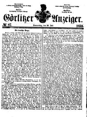 Görlitzer Anzeiger vom 28.07.1859