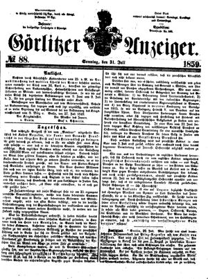 Görlitzer Anzeiger vom 31.07.1859
