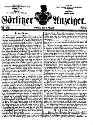 Görlitzer Anzeiger vom 02.08.1859