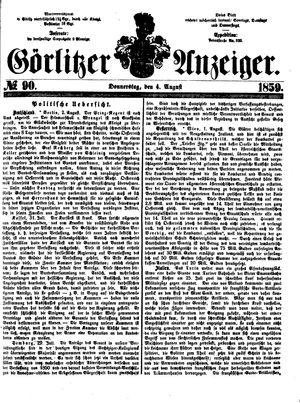 Görlitzer Anzeiger vom 04.08.1859