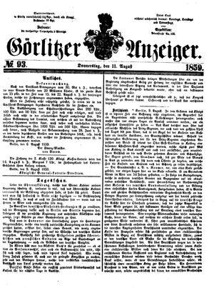 Görlitzer Anzeiger vom 11.08.1859