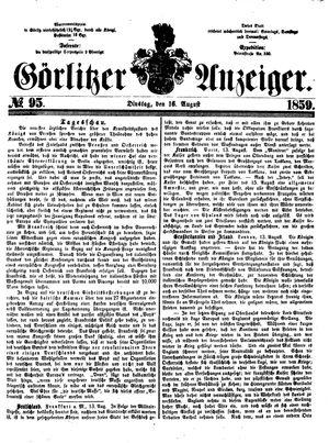 Görlitzer Anzeiger vom 16.08.1859