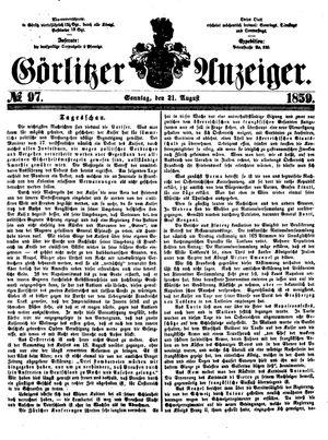 Görlitzer Anzeiger vom 21.08.1859