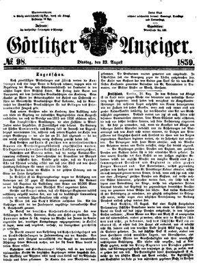 Görlitzer Anzeiger vom 23.08.1859