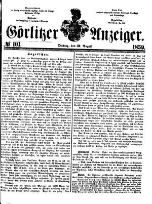Görlitzer Anzeiger vom 30.08.1859