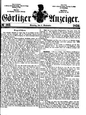 Görlitzer Anzeiger vom 04.09.1859