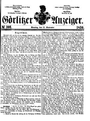 Görlitzer Anzeiger vom 11.09.1859