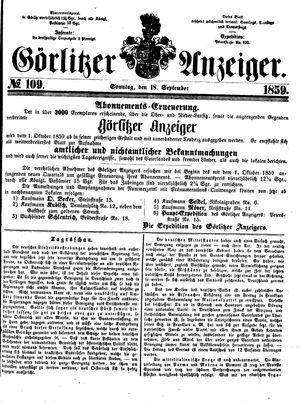 Görlitzer Anzeiger vom 18.09.1859