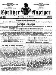 Görlitzer Anzeiger (22.09.1859)