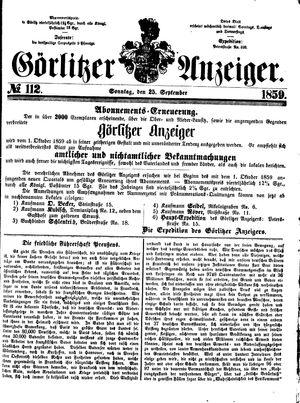 Görlitzer Anzeiger vom 25.09.1859