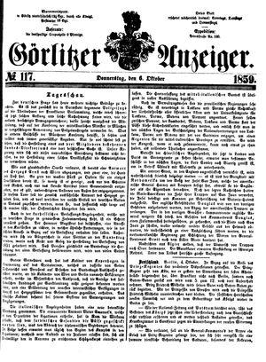 Görlitzer Anzeiger vom 06.10.1859