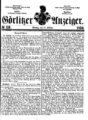 Görlitzer Anzeiger vom 11.10.1859